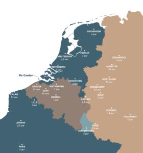 overzichtskaart met locatie van De Couter